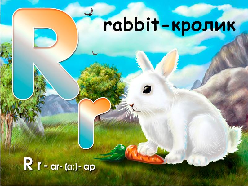 """К приложению """"Английский алфавит для малышей"""" - Кролик"""