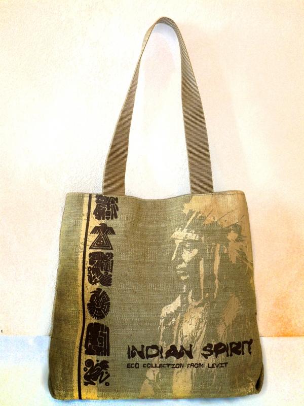 """Принт """"Индеец"""" на сумку-пакет (двухнакатный)"""