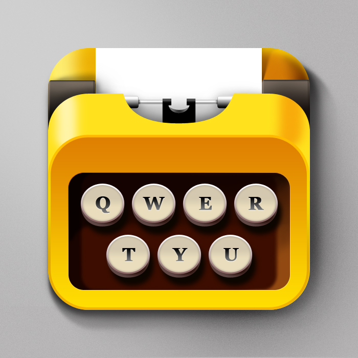 Typewritter  IOS Icon