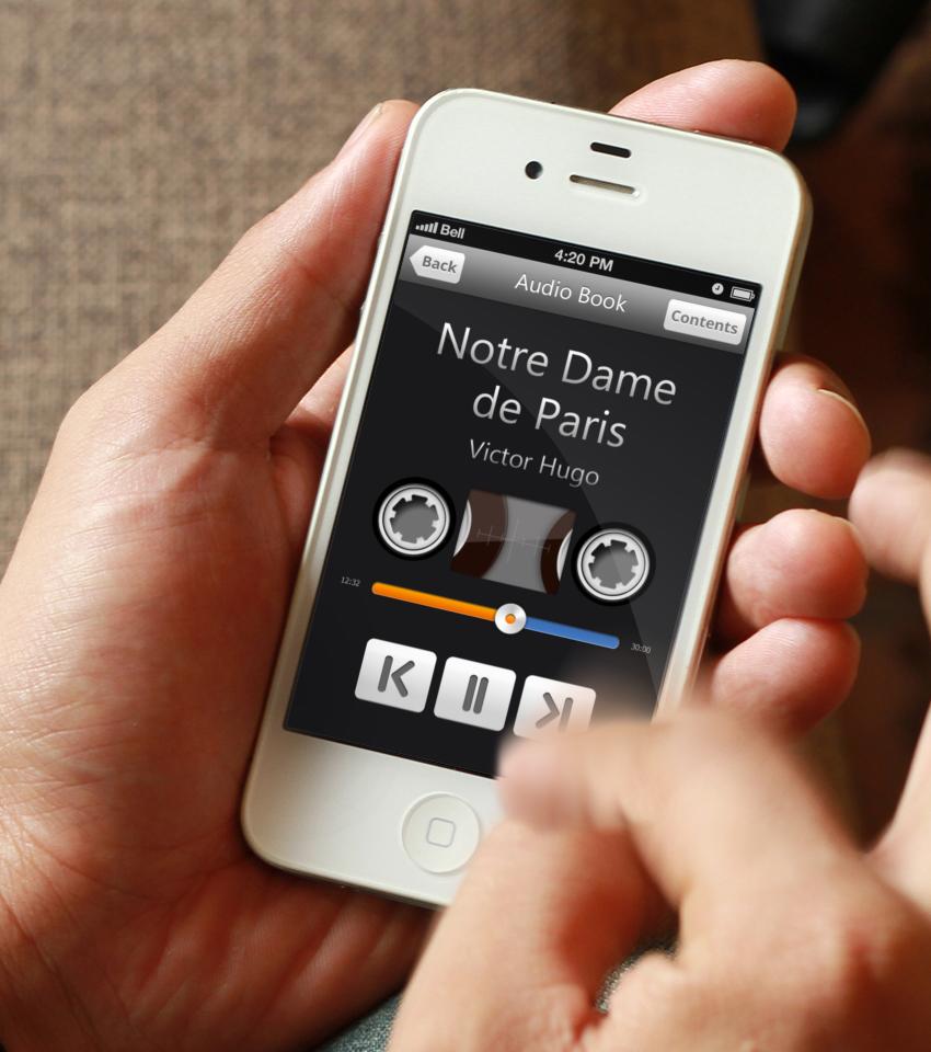 Аудиокнига. Интерфейс для IOS