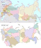 Отрисовка карты /Россия и СНГ/
