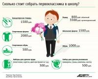 """Инфографика """"Первоклассник: цена вопроса"""""""