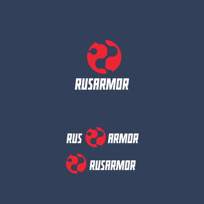 Разработка логотипа технологического стартапа РУСАРМОР фото f_9995a0959132098c.png