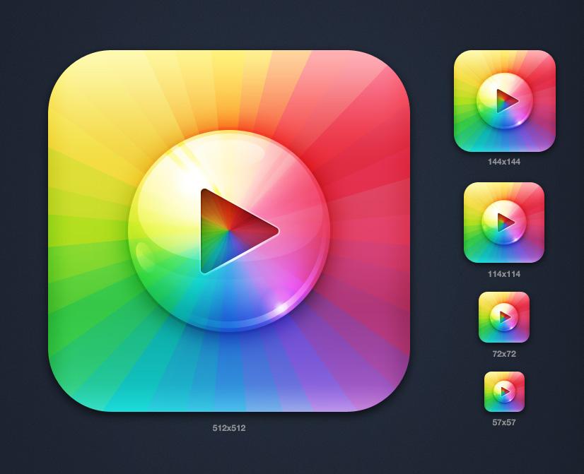 "Иконка iOS приложения ""Music Box"""