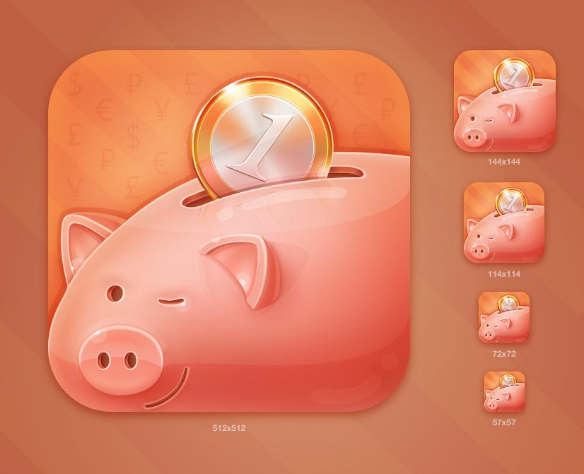 Иконка iOS - Копилка
