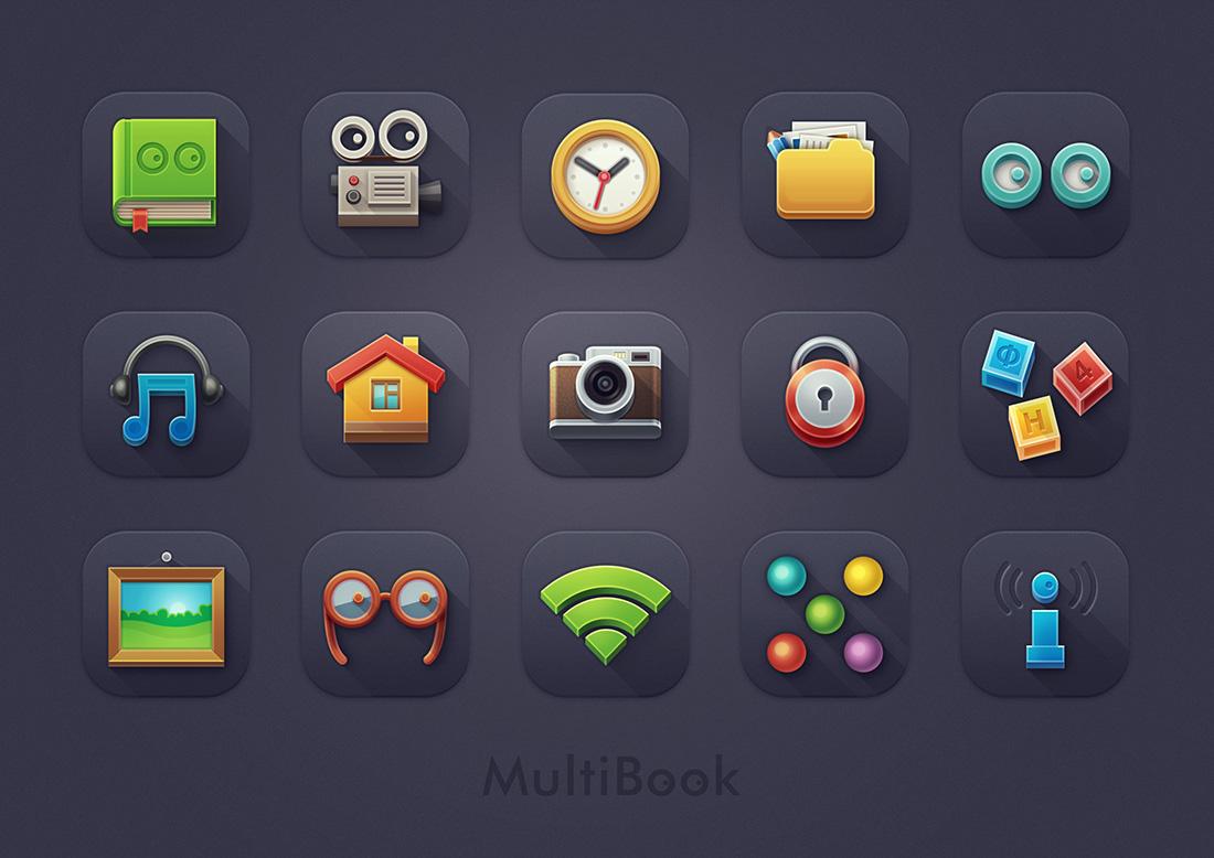 """Набор иконок для детского планшетника """"MultiBook"""""""
