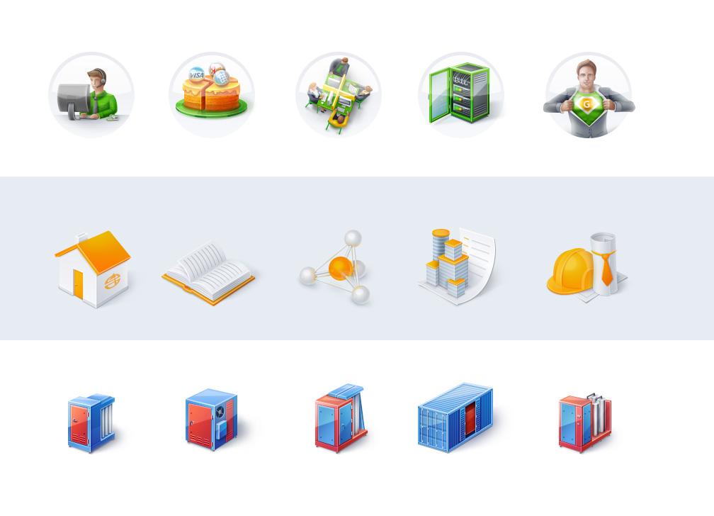 3 набора иконок для разных сайтов