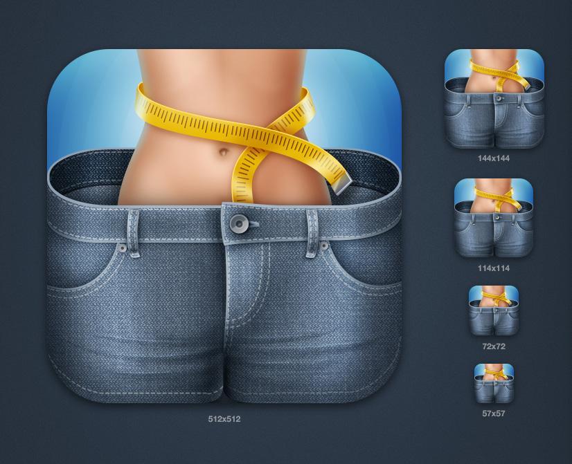 """Иконка iOS приложения """"iDiet"""""""