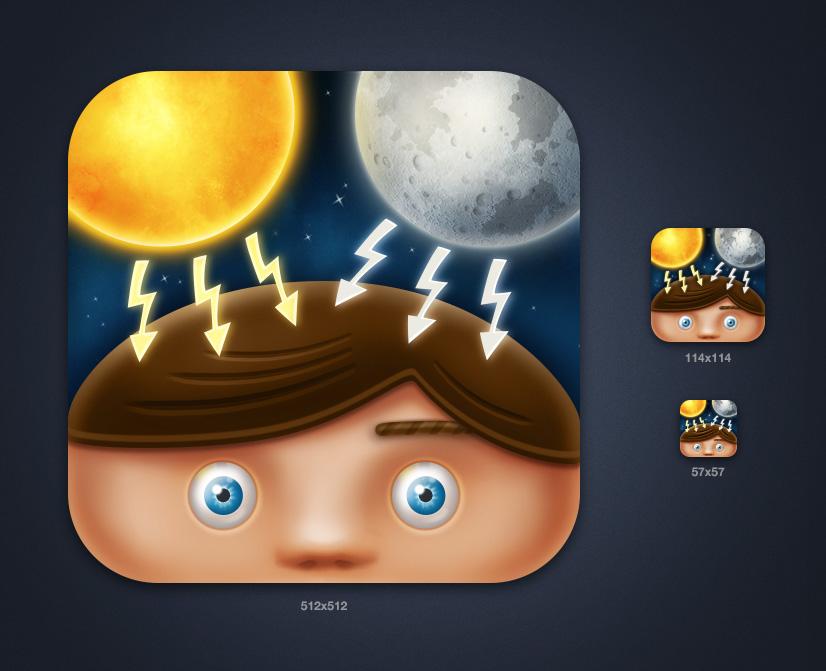 """Иконка iPhone приложения """"Solar Storm"""""""