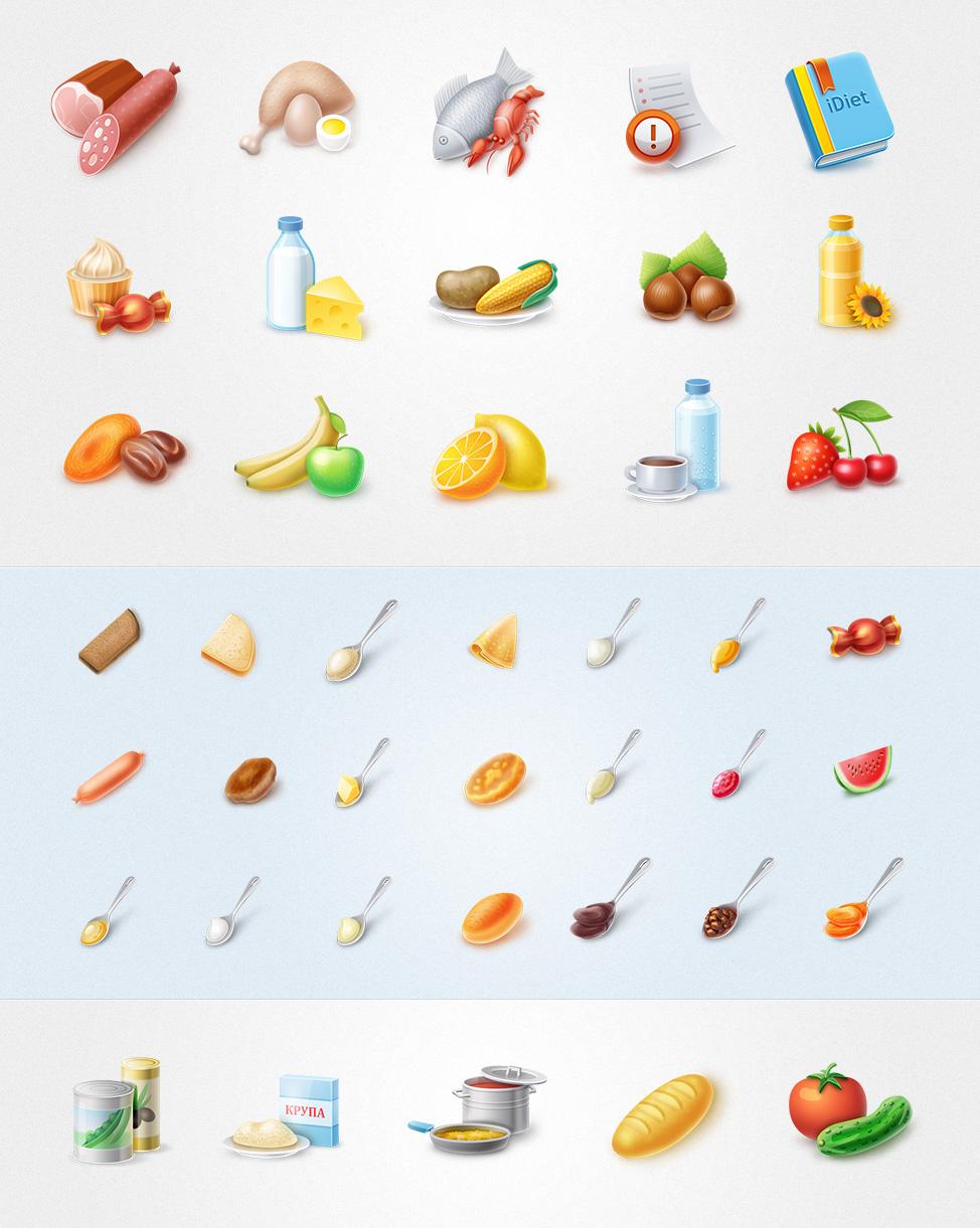 Иконки каталога продуктов питания