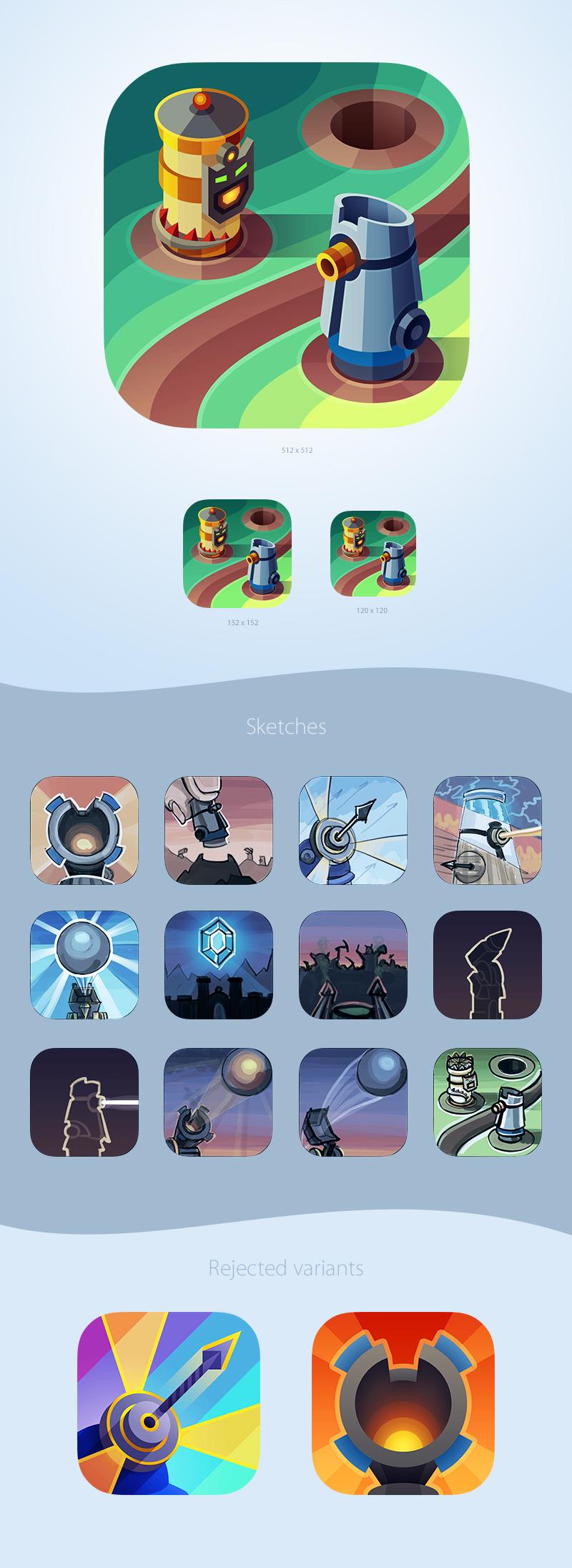 """Иконка для iOS игры """"Defenders"""""""