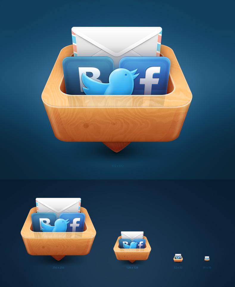 """Иконка Mac OS X приложения """"Socialpad"""""""