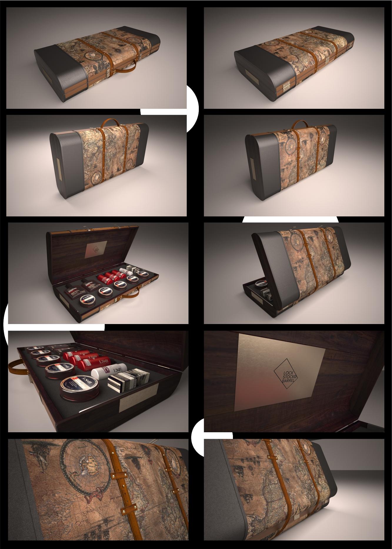 Подарочная коробка в готическом стиле для косметической продукции