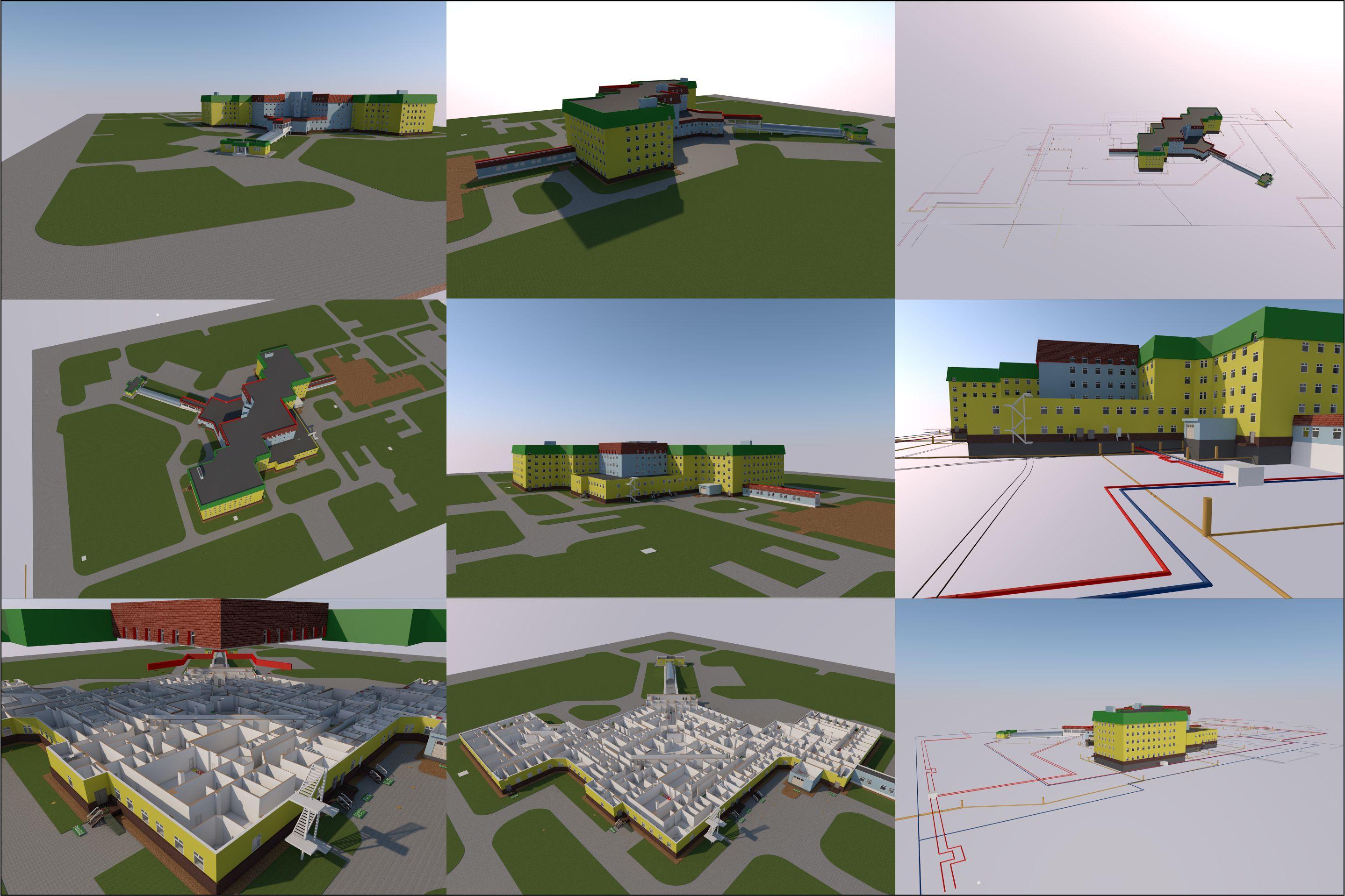 изготовление планов этажей, 3Д планов эвакуации, 3Д коммуникаций в Архикаде