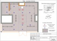 План монтажа потолков