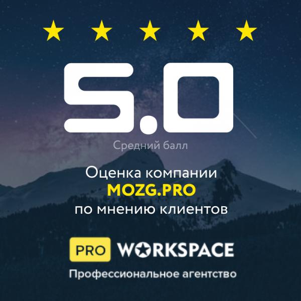 Наш рейтинг на WORKSPACE 5.0