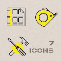 Контурные иконки. Двери 2