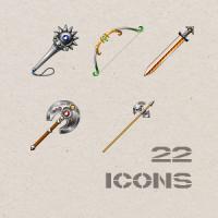 Иконки для игры. Оружие.
