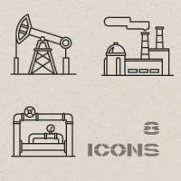 Контурные иконки. Производство 1