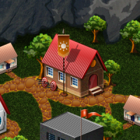 Карта  городка для онлайн игры.