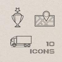 Контурные иконки. Логистика 2