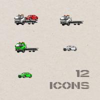 Пиксельные иконки автомобилей
