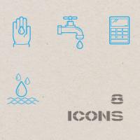 Контурные иконки. Эко.