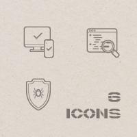 Контурные иконки. Монохром.