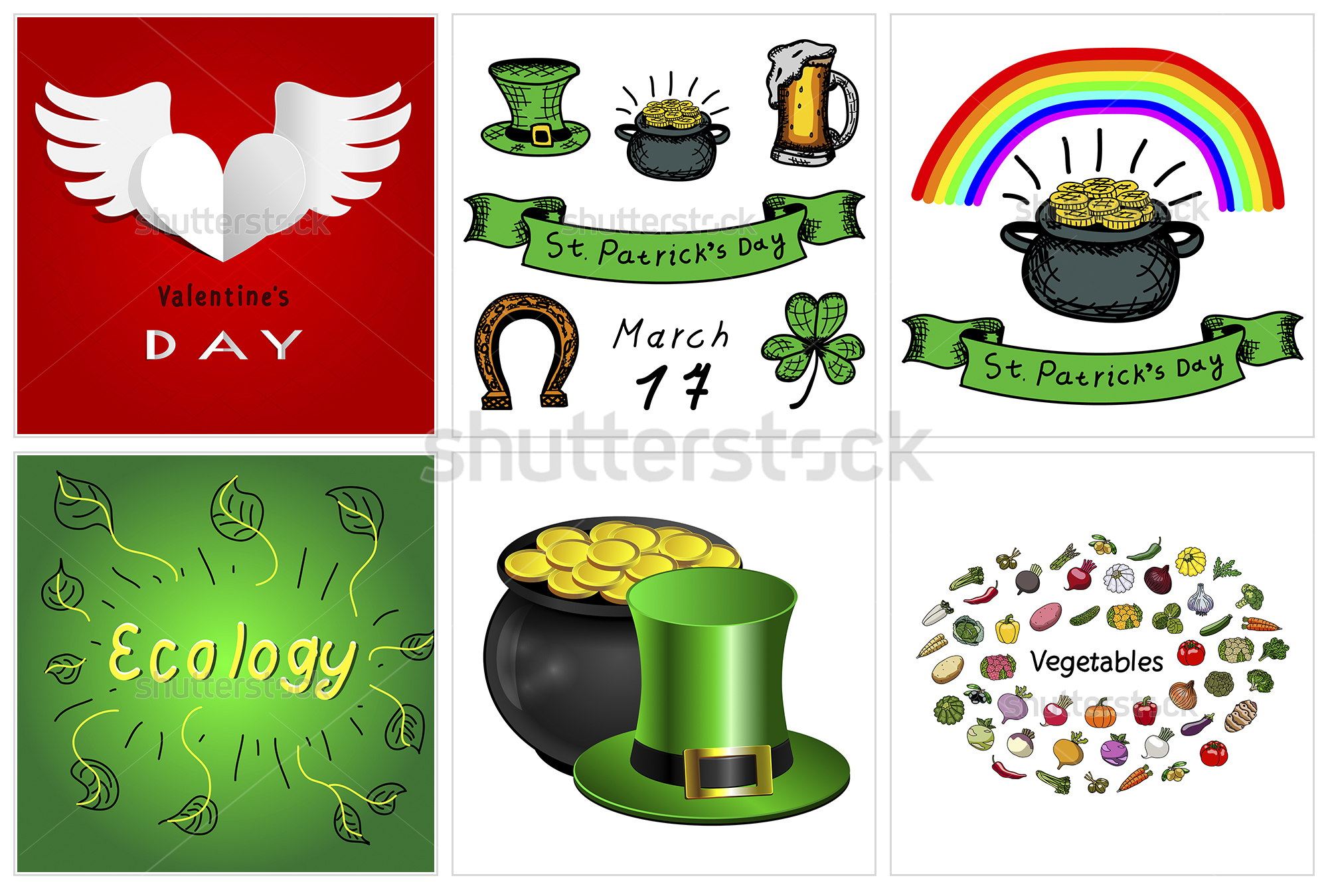Векторные иллюстрации праздников