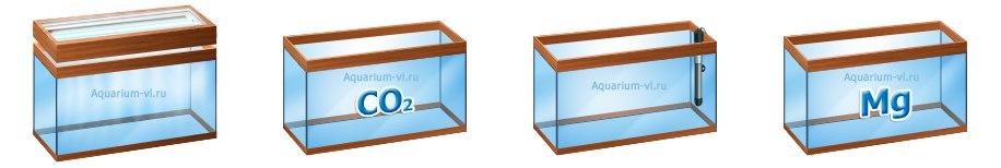 Иллюстрация аквариумов