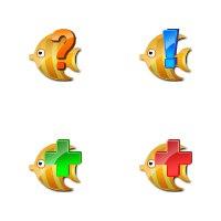 Иконки с рыбками