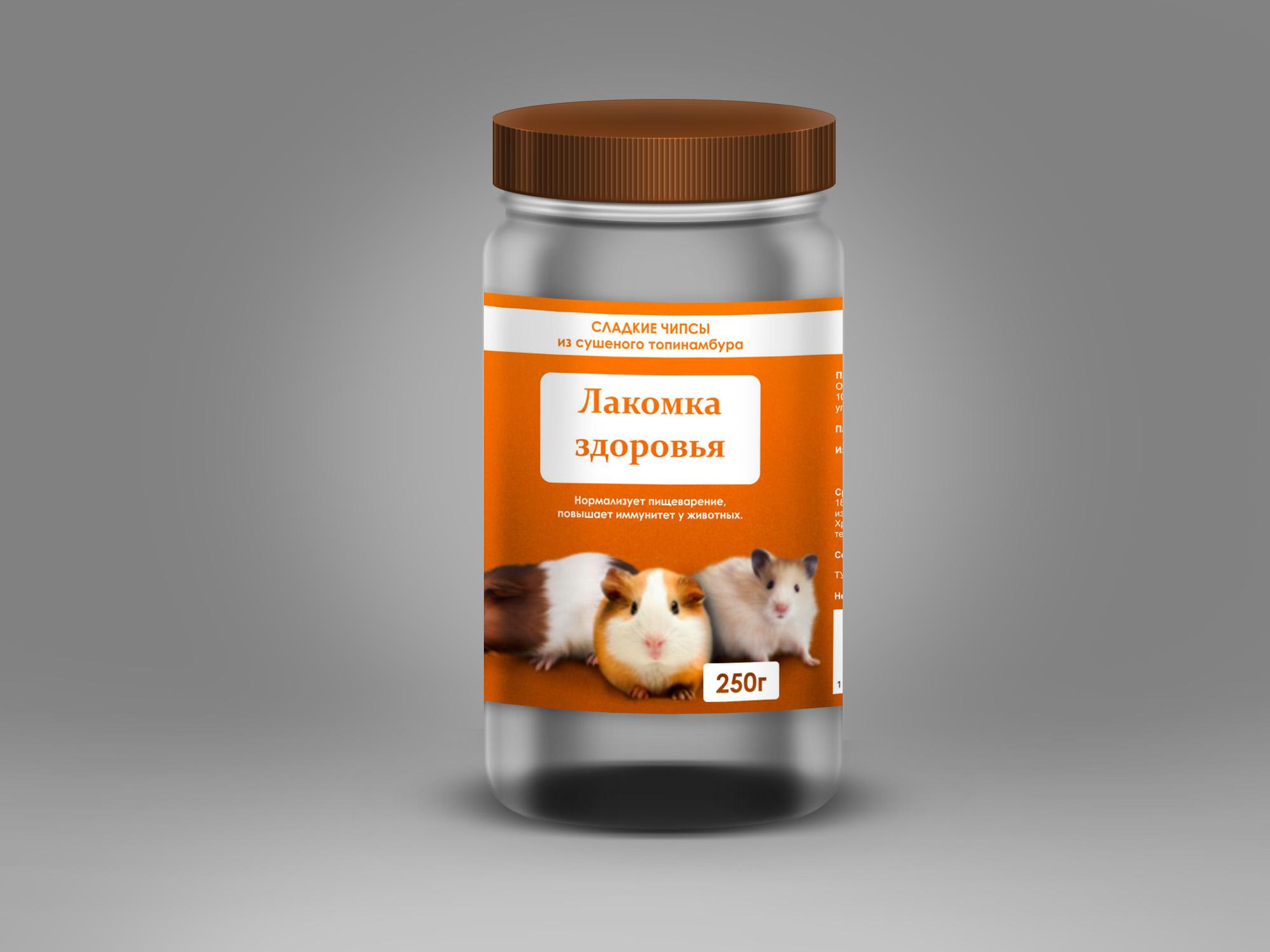 Дизайн этикетки на ПЭТ-банку лакомства для домашних грызунов фото f_28653b027e4aa008.jpg