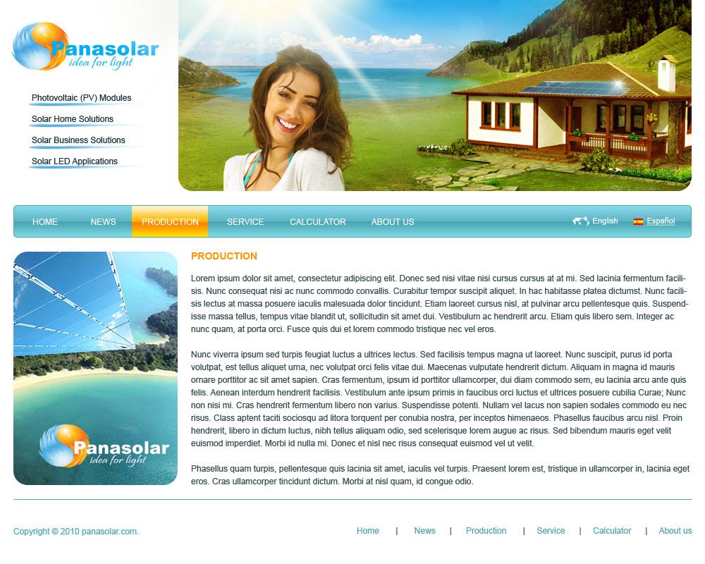 Двухязычный сайт Panasolar