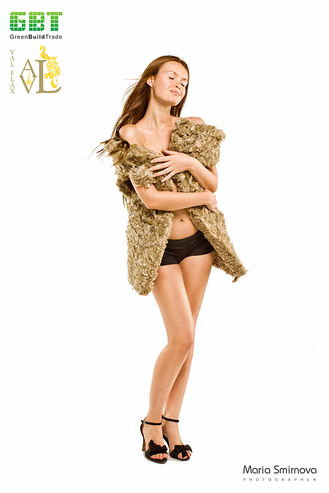 Фотосъемка для рекламы льняного утеплителя VAL FLAX