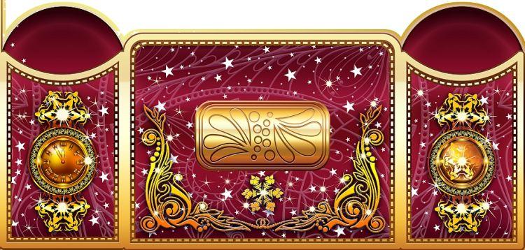 Элемент дизайна новогодней упаковки
