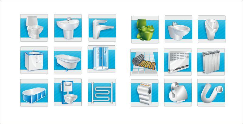 Иконки для магазина сантехники