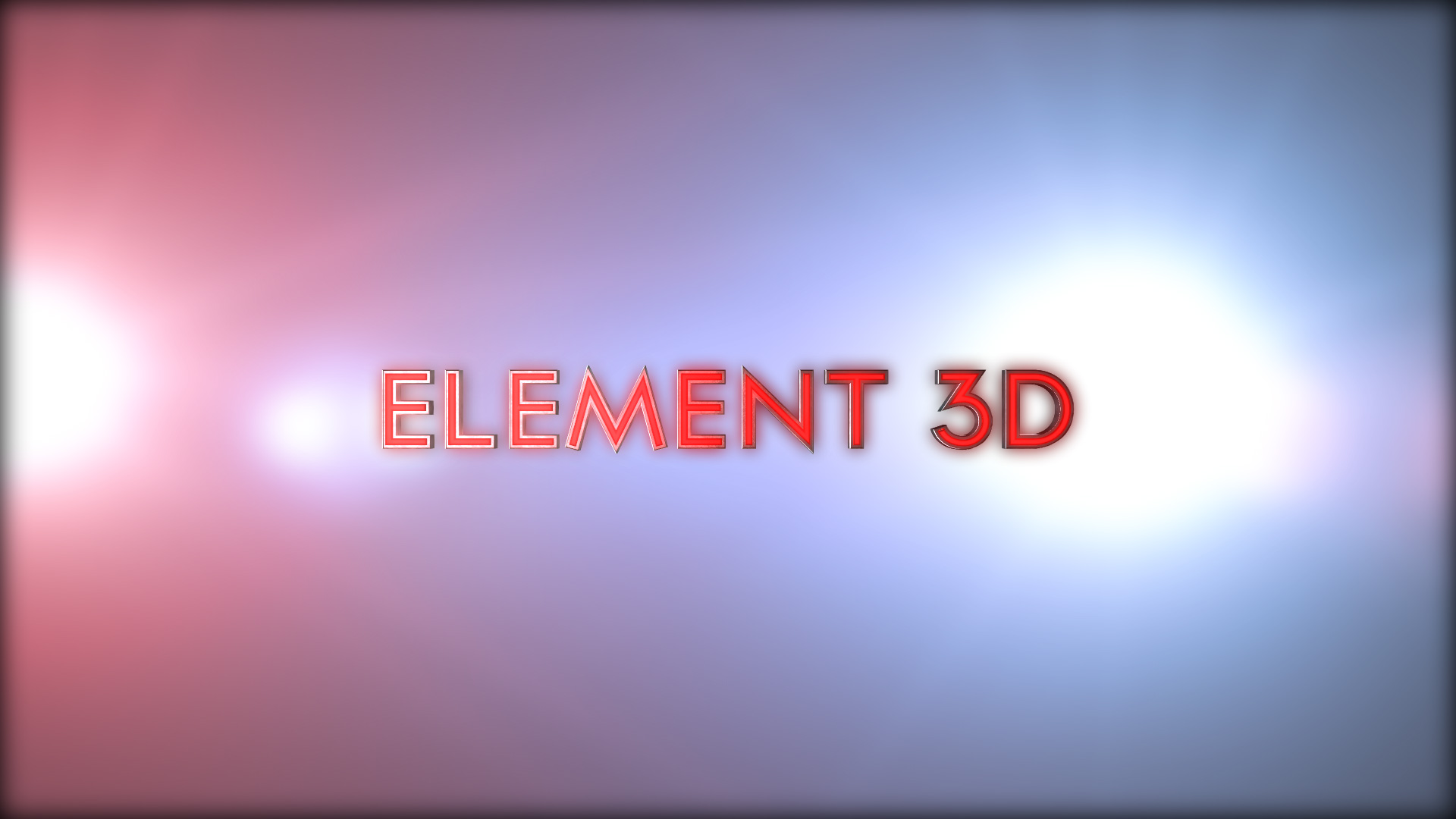 3D TEXT intro