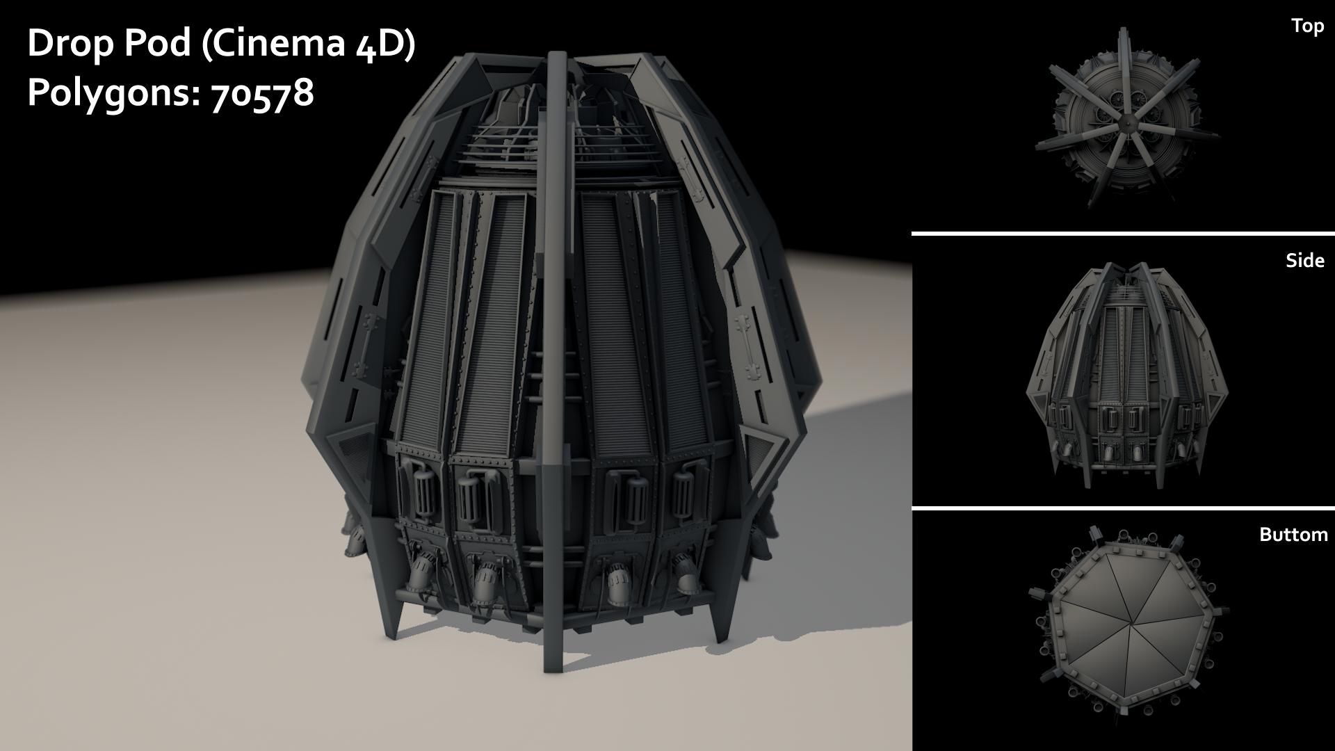 Drop Pod 3D Model