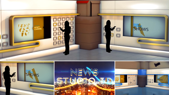 AE Studio Element 3D News Studio