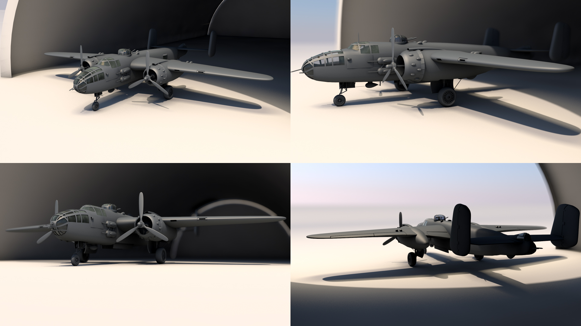 B-25 Modelling With Gears