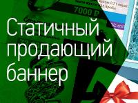 Статический баннер яндекс, гугл и пр. или слайдер для вашего сайта