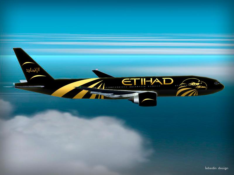 Брендирование самолета Etihad Airways (winner)