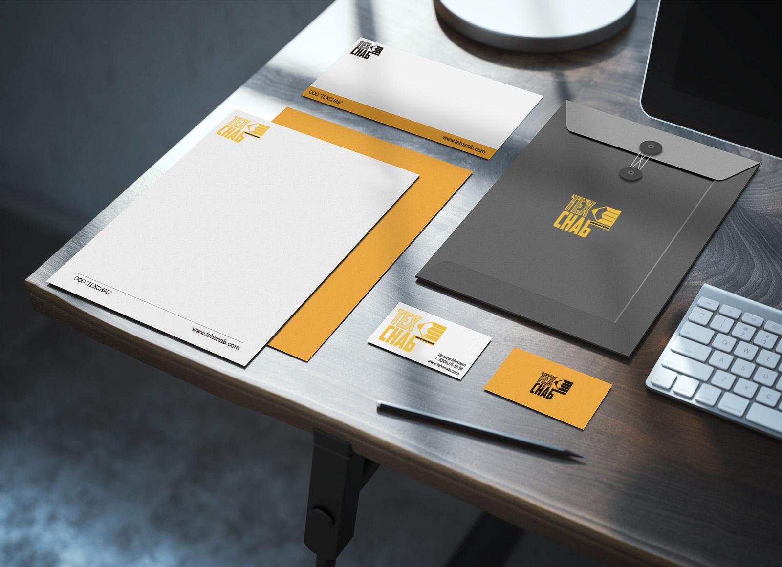 Разработка логотипа и фирм. стиля компании  ТЕХСНАБ фото f_5915b1bcba1a27a9.jpg
