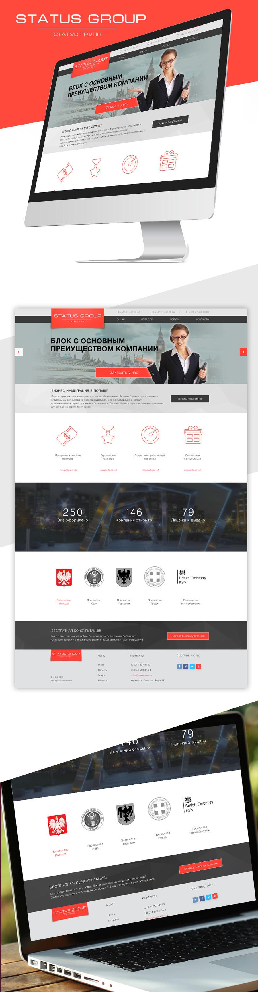 Сайт. Оформление виз