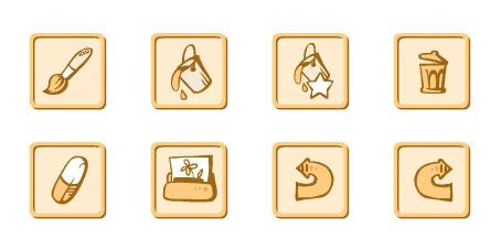 Иконки для детского рисовального приложения