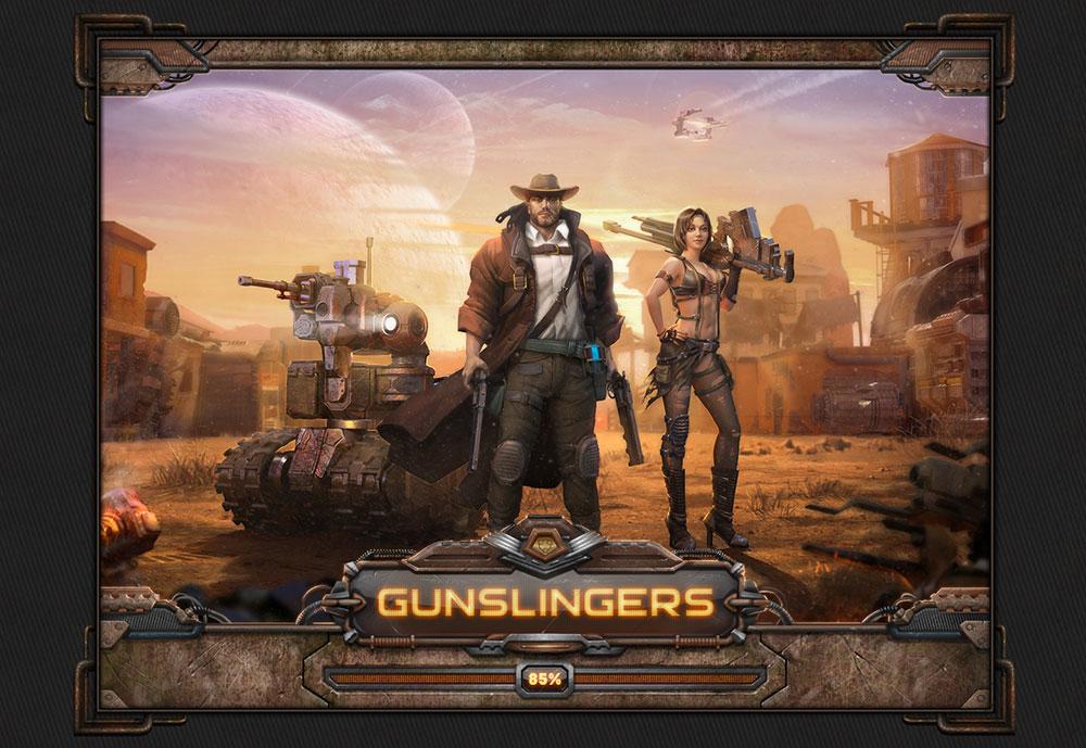 """Многопользовательская социальная игра """"Gunslingers"""""""