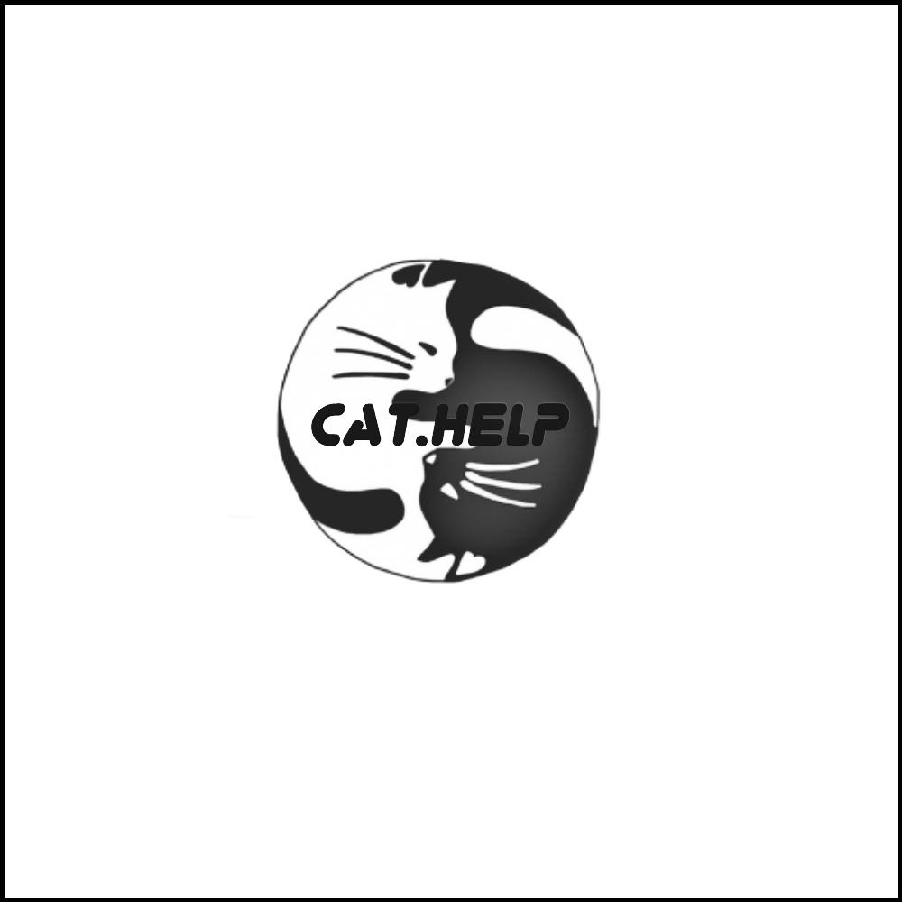 логотип для сайта и группы вк - cat.help фото f_45959db7048af26d.jpg