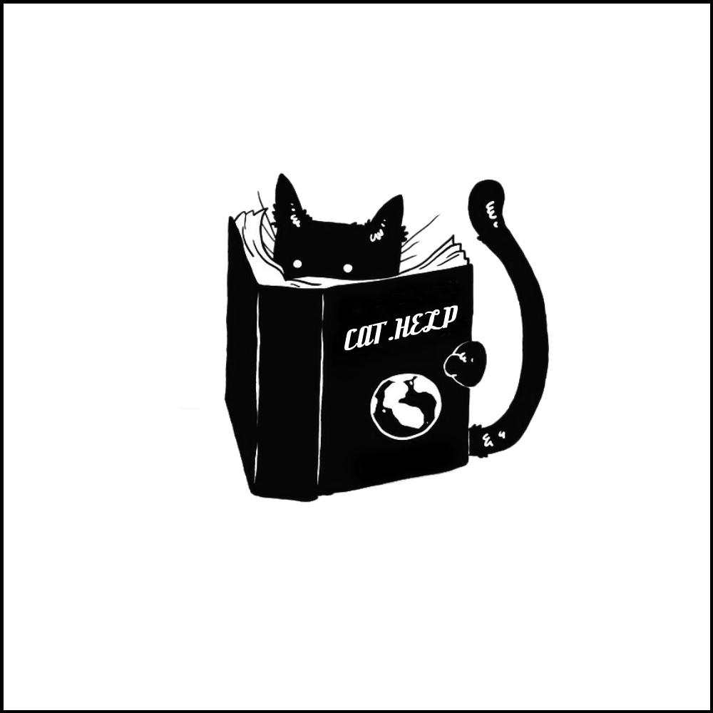 логотип для сайта и группы вк - cat.help фото f_83759db704271099.jpg