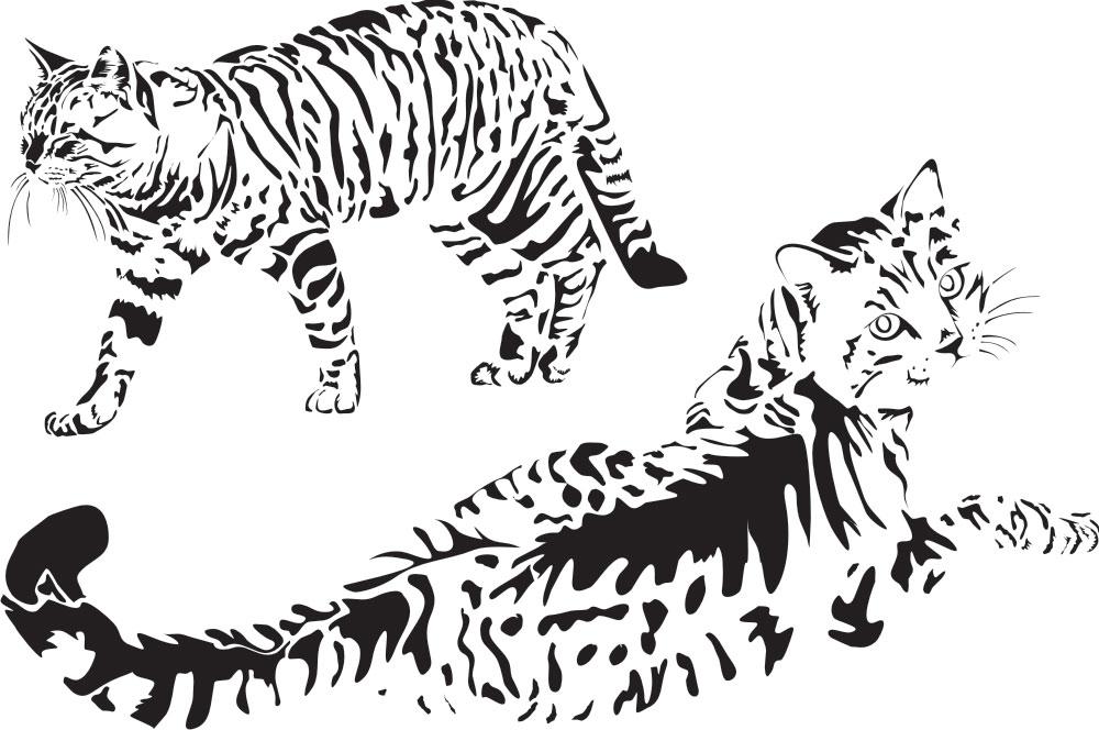 Кошка (зарисовка с натуры)