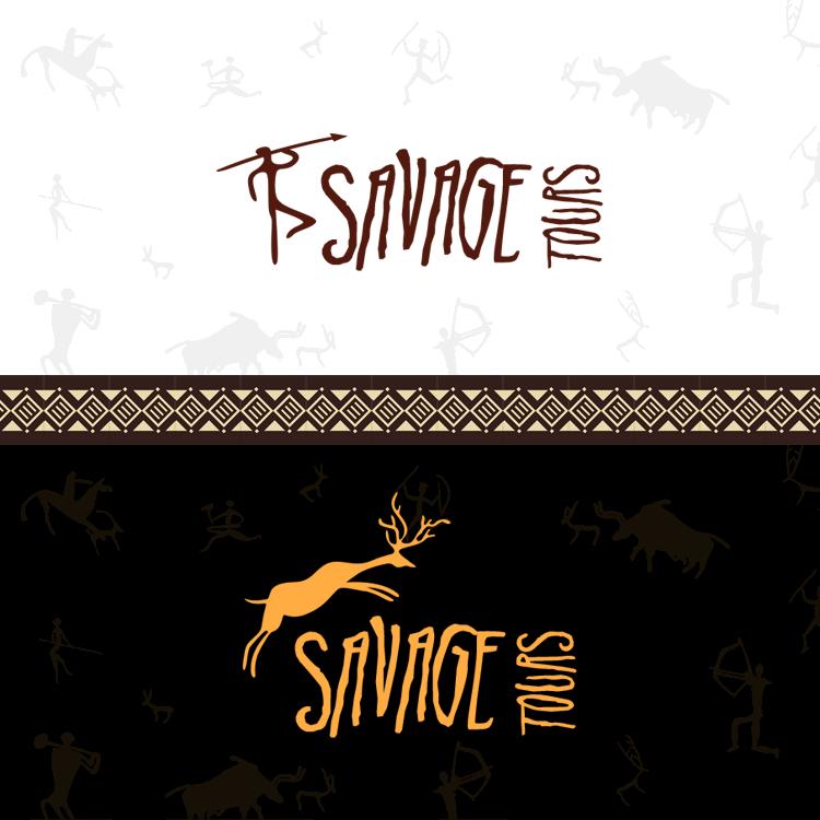 Логотип туристической компании Savage Travel